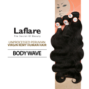 LaFlare Unprocessed Peruvian Virgin Human Hair Weave Body Wave