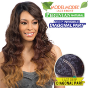 ModelModel Synthetic Lace Front Wig Peruvian Natural Collection Deep Invisible Diagonal part Natural Wave