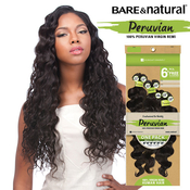 Sensationnel Unprocessed Peruvian Virgin Remy Human Hair Weave BareAMP;Natural Loose Deep 6Pcs