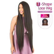 New Born Free Human Hair Blend Lace Front Wig 4X4 XL Magic Lace UShape Lace Wig MLUH100