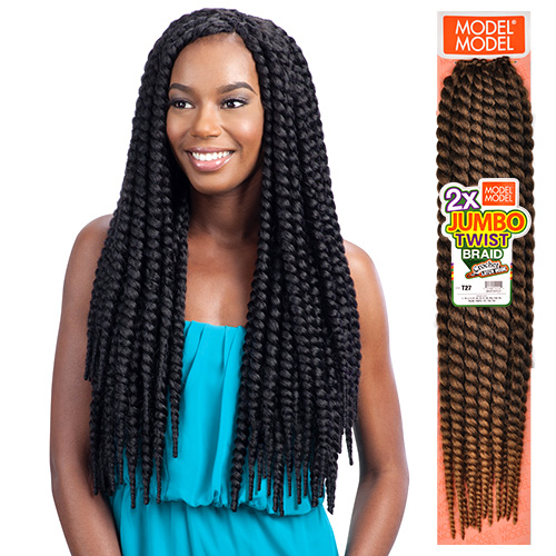 Crochet Box Braids Model Model : ModelModel Synthetic Hair Crochet Braids 2X Jumbo Twist Braid