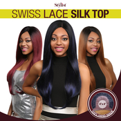 The Stylist Synthetic Lace Front Wig 4x4 Swiss Lace Silk Top Swiss Goddess