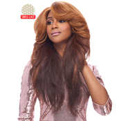 Harlem125 Synthetic Hair Lace Front Wig Swiss Lace Curved Part LSD 03