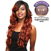 Sensationnel Human Hair Blend Lace Front Wig Super Model Series 3XL Swiss Silk Based Natalia