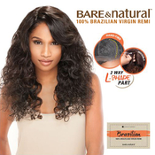 Sensationnel Unprocessed Brazilian Remy Human Hair lace Wig Bare AMP; Natural LPart Natural Curly