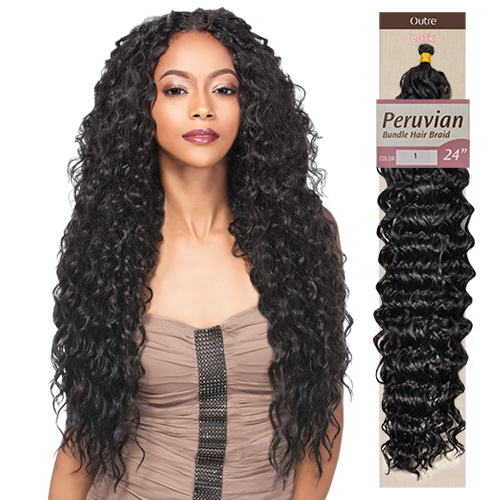 Crochet Braids Outre : Outre Synthetic Hair Braid Batik Braid Peruvian Bundle Hair 24 ...