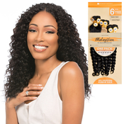 Sensationnel Unprocessed Malaysian Virgin Remy Human Hair Weave Bare AMP; Natural French Twist 6Pcs Free Closure