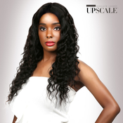 UpScale 100 Virgin Remi Human Hair Lace Front Wig Deep Part Lace Deep Wave 24
