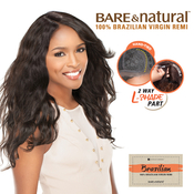 Sensationnel Unprocessed Brazilian Remy Human Hair lace Wig Bare AMP; Natural LPart Natural Wavy
