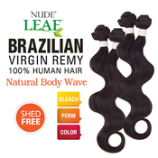 Nude Leaf Unprocessed Brazilian Virgin Remy Human Hair Weave Natural Body Wave