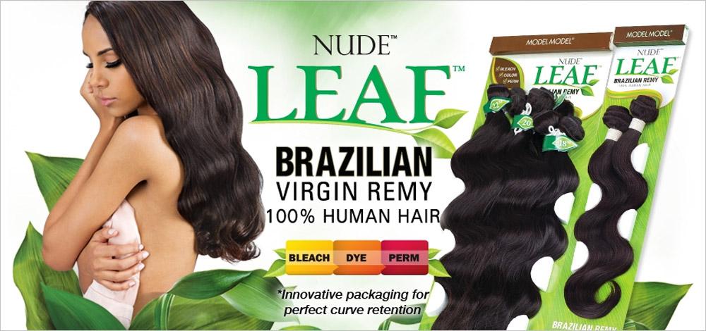 Nude Leaf Unprocessed Brazilian Virgin Remy Human Hair Weave Natural