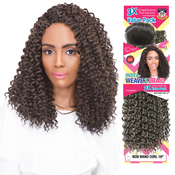 Janet Collection Synthetic Hair Braids 3X Value Pack InstaWeave 2 Braid Twin Loop W2B Wand Curl 18