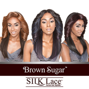 ISIS Human Hair Blend Lace Front Wig Brown Sugar Silk Lace BS602