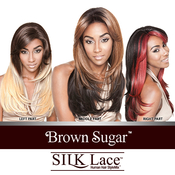 ISIS Human Hair Blend Lace Front Wig Brown Sugar Silk Lace BS603