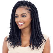FreeTress Synthetic Hair Crochet Braids 2X Cuban Gorgeous Loc 12 Goddess Loc