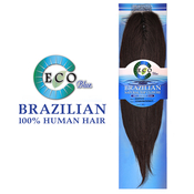 New Born Free Eco Blue Human Hair Weave Brazilian Natural Top Closure 12