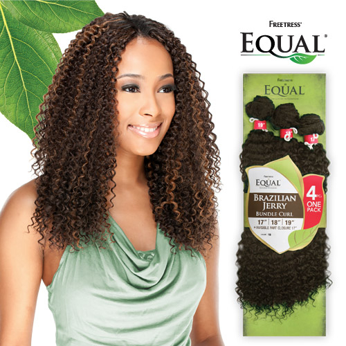 Freetress equal synthetic hair weave brazilian jerry bundle curl hair color shown p430 pmusecretfo Gallery