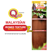 Milky Way Que Human Hair Blend Weave Malaysian Ironed Texture Natural Straight 182022 7Pcs