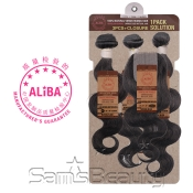 Janet Collection Unprocessed Brazilian Virgin Remy Human Hair Weave Aliba Natural Body 3PcsL Part Free Closure