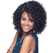 Harlem125 Synthetic Hair Lace Front Wig Kima Deep Part Brazilian Twist S KLW05