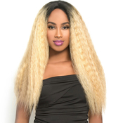 The Wig Brazilian Human Hair Blend Invisible Deep Part Lace Front Wig LHNatural