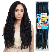 FreeTress Synthetic Hair Crochet Braids 2X Soft Faux Loc Wavy 20