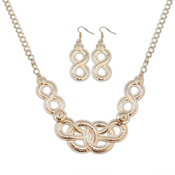 Bold Coil Necklace and Earrings Set