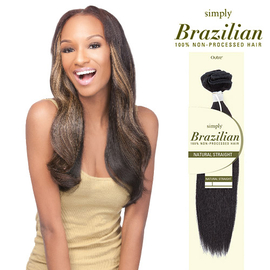 Outre Simply Non Processed Brazilian Human Hair Weave Natural Straight