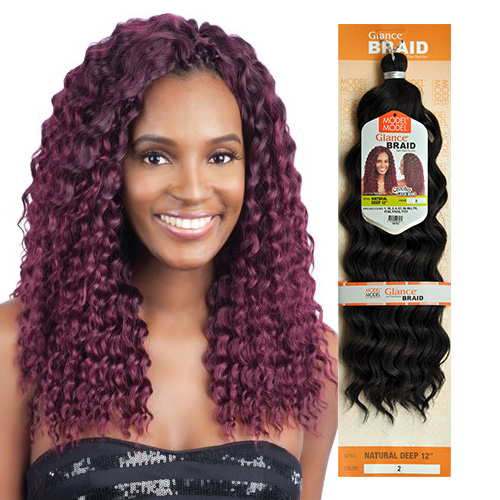 Modelmodel Synthetic Hair Crochet Braids Glance Natural Deep 12 Samsbeauty