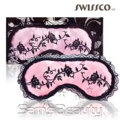 Swissco Swissco Pink Sleep Mask with Lace Trim