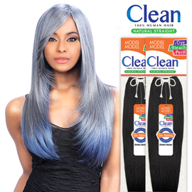 Modelmodel human hair weave clean natural straight samsbeauty hair color shown dyed with clean color samsbeauty pmusecretfo Images
