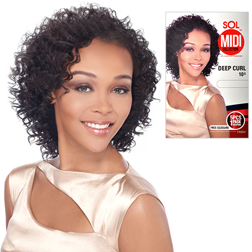Outre Human Hair Blend Weave Sol Midi Collection Deep Curl 10s 5pcs
