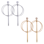 Double Circle Matchstick Hoop Earrings