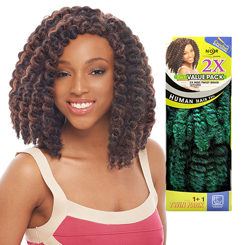 Janet Collection Synthetic Hair Crochet Braids Noir 2X Rod Twist Braid ...