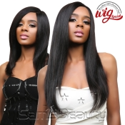 Queen Hair Unprocessed Brazilian Virgin Remy Human Hair Whole Lace Front Wig Straight