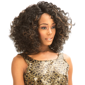 New Born Free Synthetic Lace Front Wig Curved Part Magic Lace MLC 168