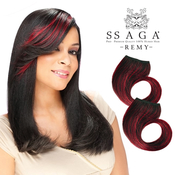 Milky Way Remy Human Hair Weave SAGA ClipIn Bang Piece 7