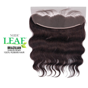 ModelModel Nude Leaf Unprocessed Brazilian Virgin Remy Human Hair Weave 13X4 Lace Frontal Closure Body Wave