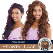 ISIS Human Hair Blend Lace Front Wig Brown Sugar 13X4 Frontal Lace BSF12
