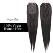 Vogue Hair 100 Virgin Human Hair Brazilian Hair Weave Lace Deep Part Closure Natural Straight