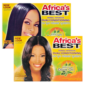 Africas Best NoLye Dual Conditioning Relaxer System Kit