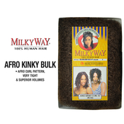 Human Hair Braids Milky Way Afro Kinky Bulk