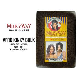 Human Hair Braids Milky Way Afro Bulk