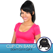 Anytime Human Hair ClipOn Bob Bang