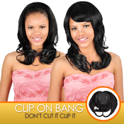 Anytime Human Hair ClipOn Crown Top Wig Bang