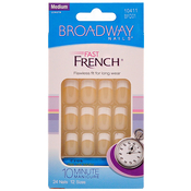 Broadway Fast French Nail Kit Medium Length Buff