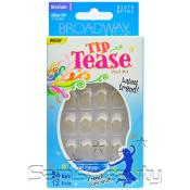 Broadway Tip Tease Medium Length 24 Nails 12 Sizes