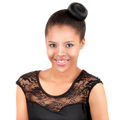 Synthetic Hair Dome Bun Glance Blueberry S