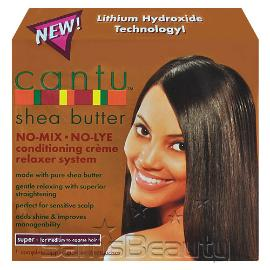 CANTU Shea Butter No-Mix No-Lye Conditioning Creme Relaxer System