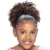 Synthetic Kids Ponytail Glance Cork Screw
